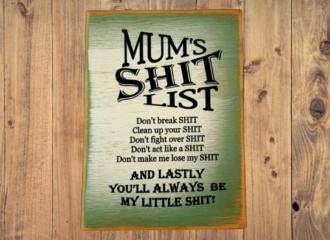 Mums Shit List – Green