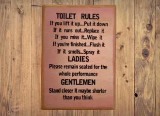 Toilet Rules – Purple