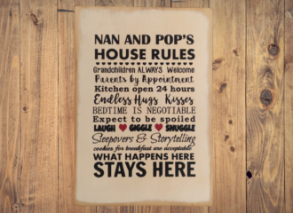 Nan And Pops House Rules